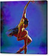 Ballerina On Point Canvas Print