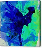 Ballerina On Stage Watercolor 2 Canvas Print
