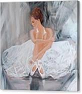 Ballerina Posing Canvas Print