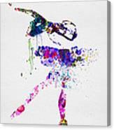 Ballerina Watercolor 2 Canvas Print