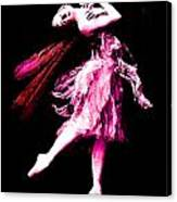Ballerina Wings Pink Portrait Art Canvas Print