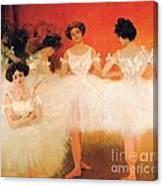 Ballerinas Resting Canvas Print