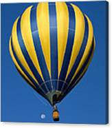 Balloon And The Moon Canvas Print