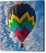 Balloon At Sunrise Canvas Print