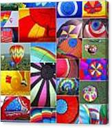 Balloon Fantasy Collage Canvas Print