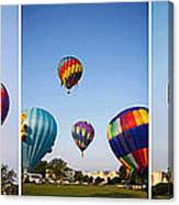 Balloon Festival Panels Canvas Print