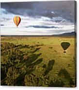 Balloon In Masai Mara National Park Canvas Print