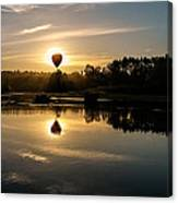 Balloon Over Snohomish River Canvas Print