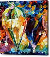 Balloon Parade - Palette Knife Oil Painting On Canvas By Leonid Afremov Canvas Print