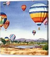 Balloons Over San Elijo Lagoon Encinitas Canvas Print