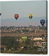 Balloons Over The Valley Canvas Print