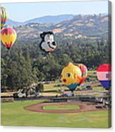 Balloons Over Wine Country Canvas Print