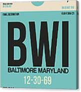 Baltimore Airport Poster 1 Canvas Print