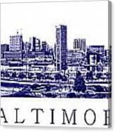 Baltimore Blueprint Canvas Print