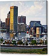 Baltimore Harbor Skyline Panorama Canvas Print