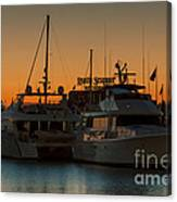 Baltimore Inner Harbor Marina At Dawn I Canvas Print