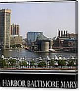 Baltimore Inner Harbor Panorama Canvas Print