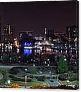 Baltimore Inner Harbor Skyline Night Panorama Canvas Print