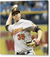 Baltimore Orioles v Tampa Bay Rays Canvas Print