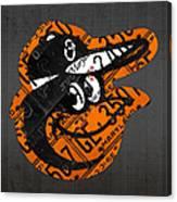 Baltimore Orioles Vintage Baseball Logo License Plate Art Canvas Print