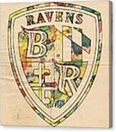 Baltimore Ravens Logo Art Canvas Print
