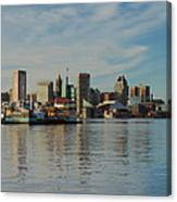 Baltimore Skyline Across The Harbor Canvas Print