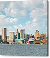 Baltimore Skyline And Inner Harbor Canvas Print