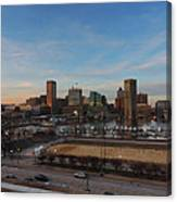 Baltimore Skyline At Sunset From Federal Hill Canvas Print