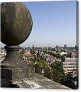 Balustrade And Views From The Westerkerk In Amsterdam Netherlands Canvas Print