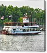 Bama Belle On The Black Warrior River Canvas Print