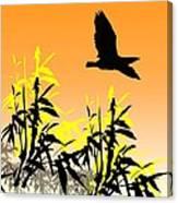 Bamboo Bird Canvas Print