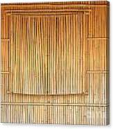 Bamboo Wall And Shutters Canvas Print