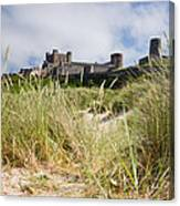 Bamburgh Castle From The Dunes Canvas Print