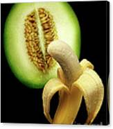 Banana And Honeydew Canvas Print
