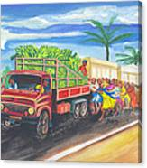 Banana Delivery In Cameroon 02 Canvas Print