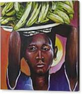 Banana Hawker Canvas Print