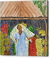 Banana Vendor Canvas Print