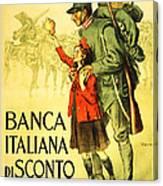 Banca Italiana Di Sconto, 1917 Canvas Print