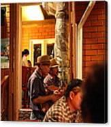 Band At Palaad Tawanron Restaurant - Chiang Mai Thailand - 01135 Canvas Print