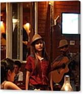 Band At Palaad Tawanron Restaurant - Chiang Mai Thailand - 01137 Canvas Print