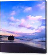Bandon Beach Painted Sunset Canvas Print