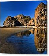 Bandon Low Tide Reflections Canvas Print