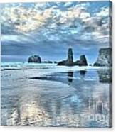 Bandon Sea Stack Reflections Canvas Print