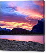Banff Sunrise Six Minutes Later Canvas Print