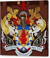 Bank Of Bermuda Coat Of Arms Canvas Print