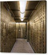 Bank Safe Deposit Boxes Canvas Print
