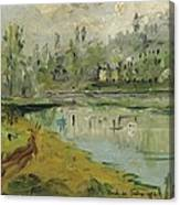 Banks Of The Saone River - Orig. Sold Canvas Print