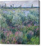 Banks Of The Seine At Vetheuil Canvas Print