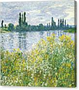 Banks Of The Seine Vetheuil Canvas Print