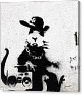 Banksy Boombox  Canvas Print